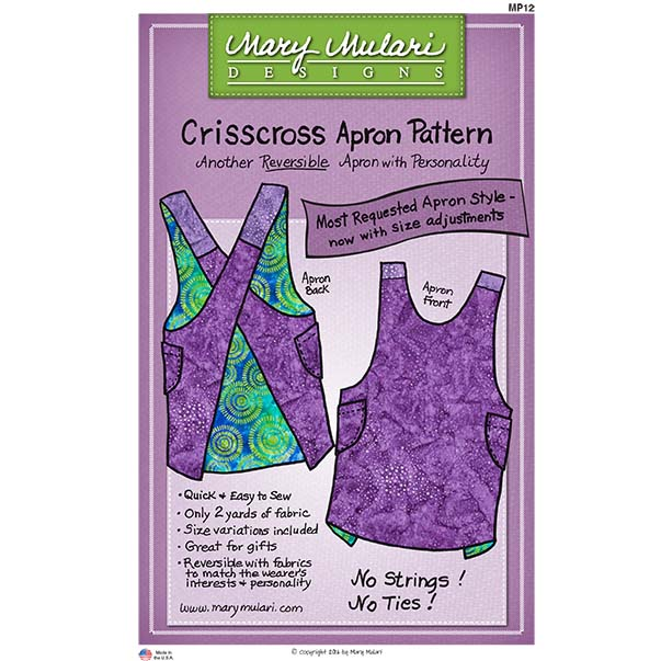 Mary Mulari Designs - Crisscross Apron MP12