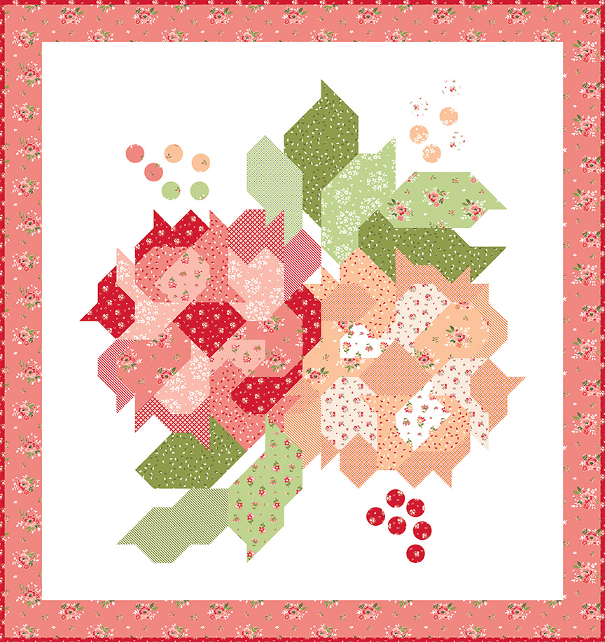 Blushing Blooms Quilt Kit