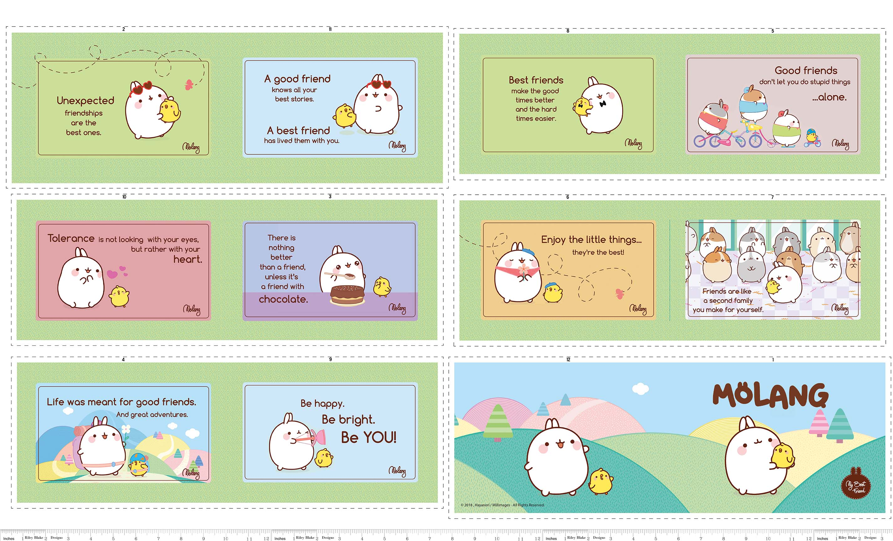 Molang Soft Book Panel