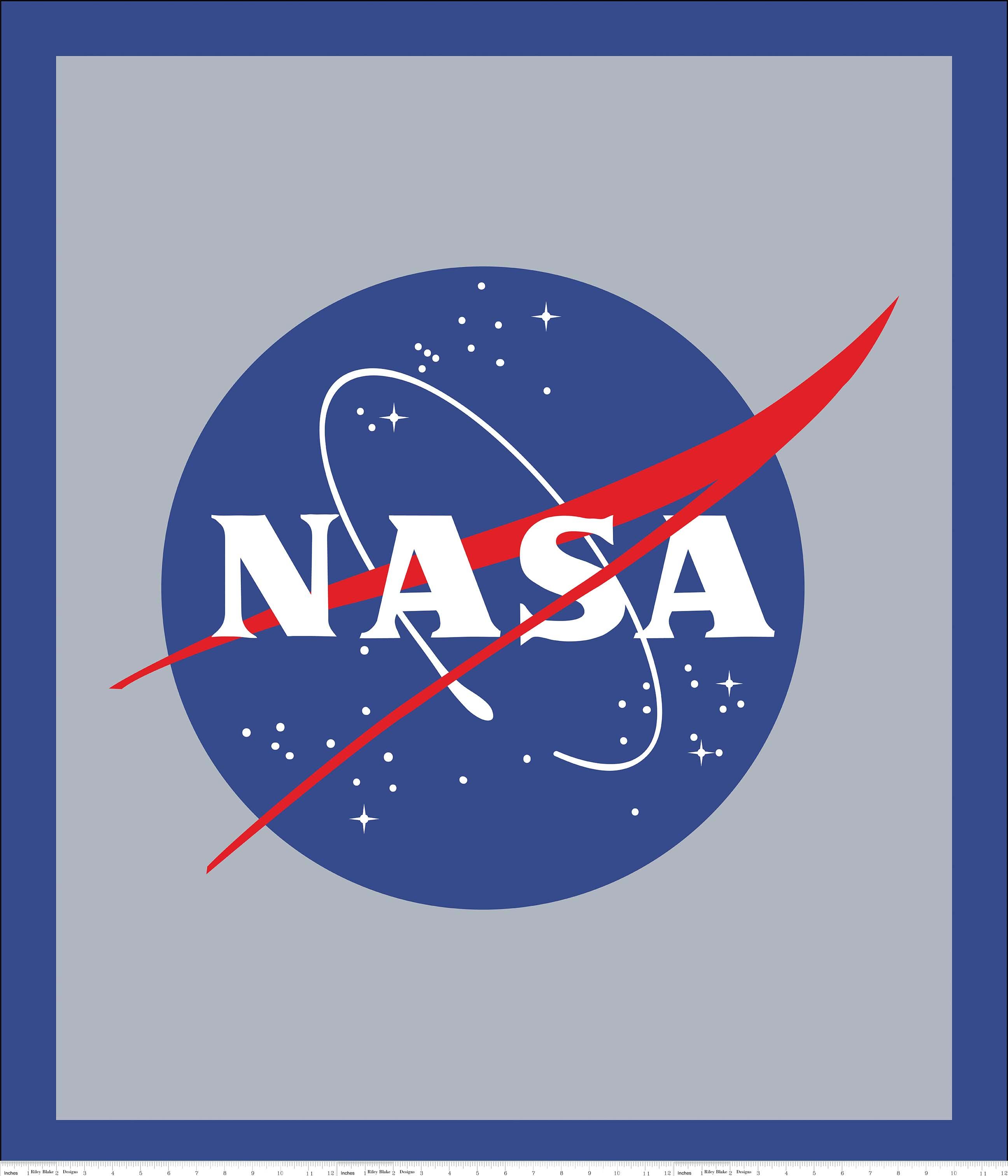 NASA Collection Nasa Logo Panel 36 X 42 P7806-BLUE