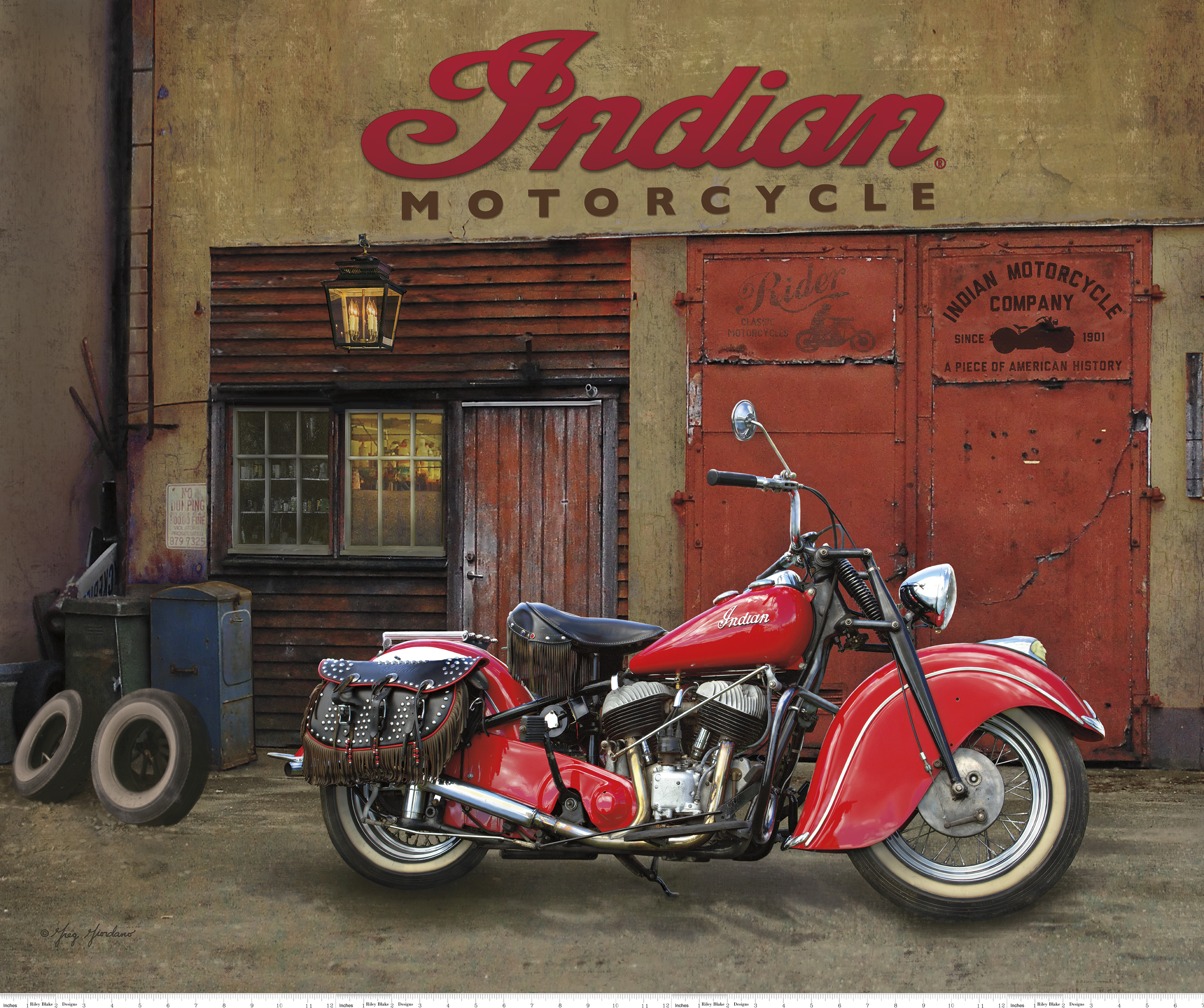 Indian Chief Motorcycle Panel