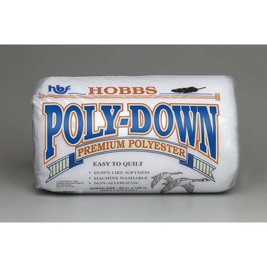 Hobbs Poly-down Polyester Batting - Queen