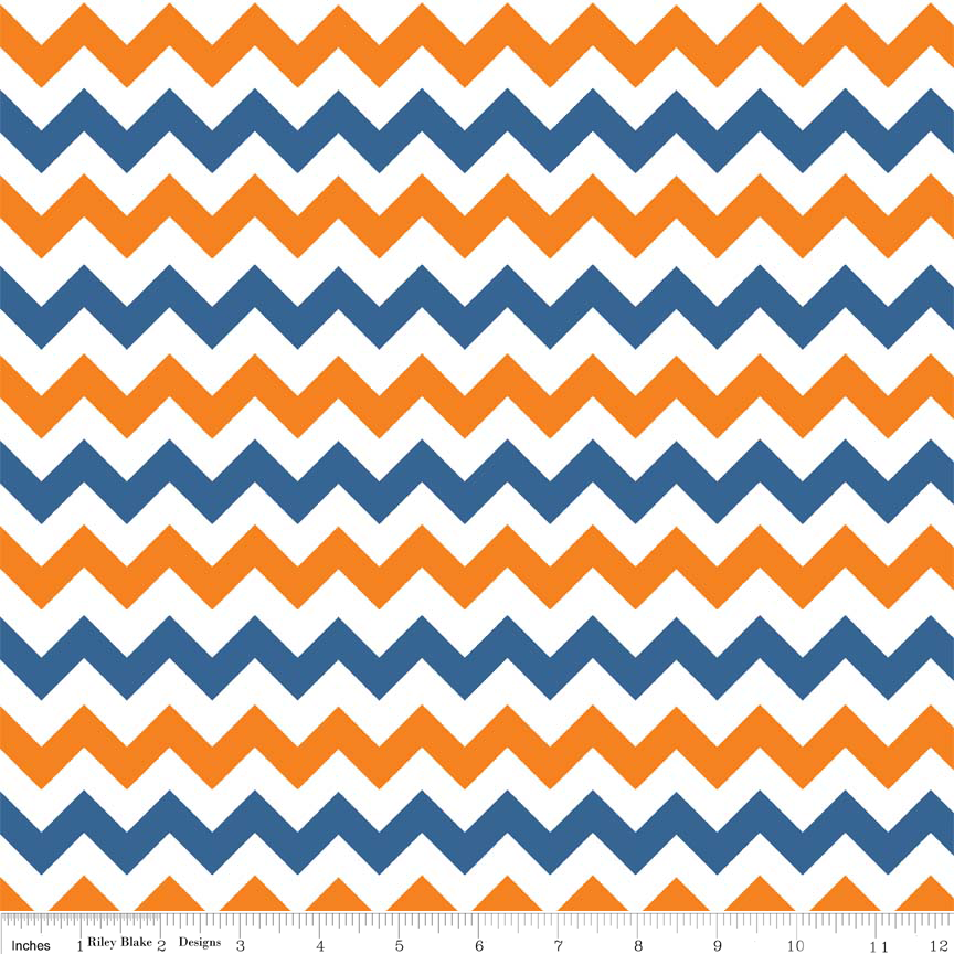 Small Chevron Orange/Blue
