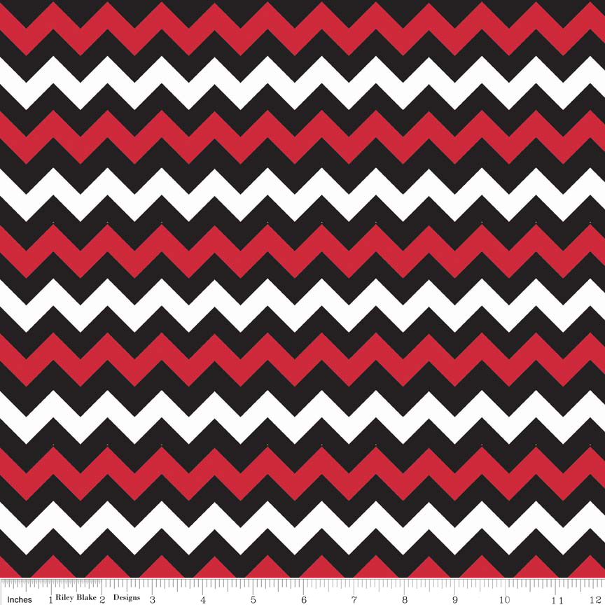 Small Chevron Red/Black