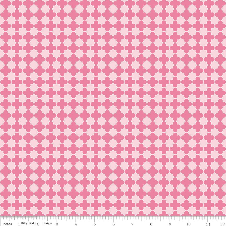Quatrefoil Mini Color Pink / Hot Pink