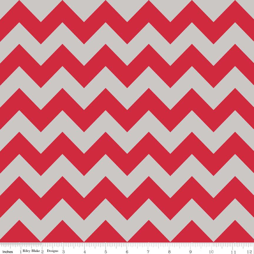 Medium Chevron Red/Gray