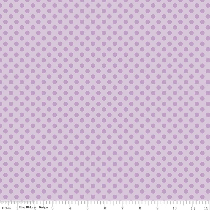 Small Dots Tone on Tone Lavendar