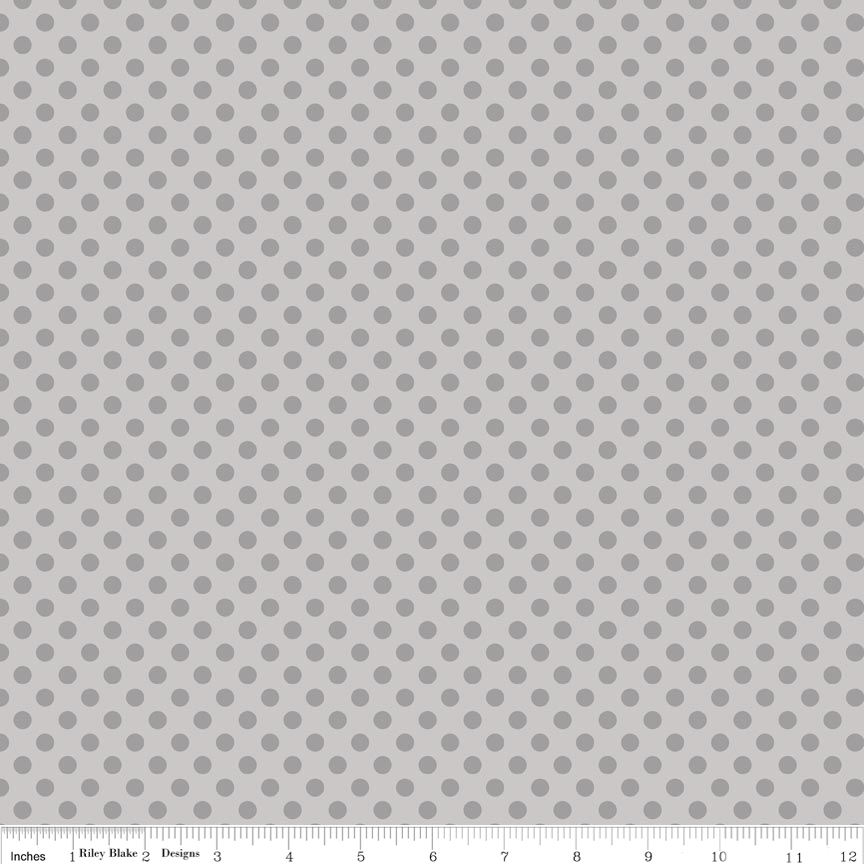 Small Dots Tone on Tone Gray