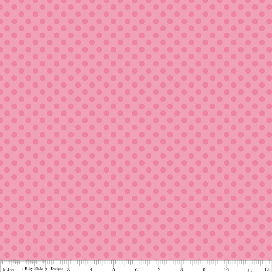Small Dots Tone on Tone Hot Pink