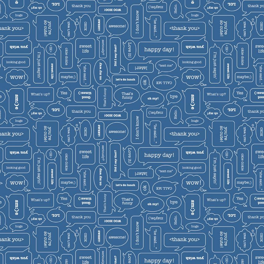 Modern Mini's Texting Blue