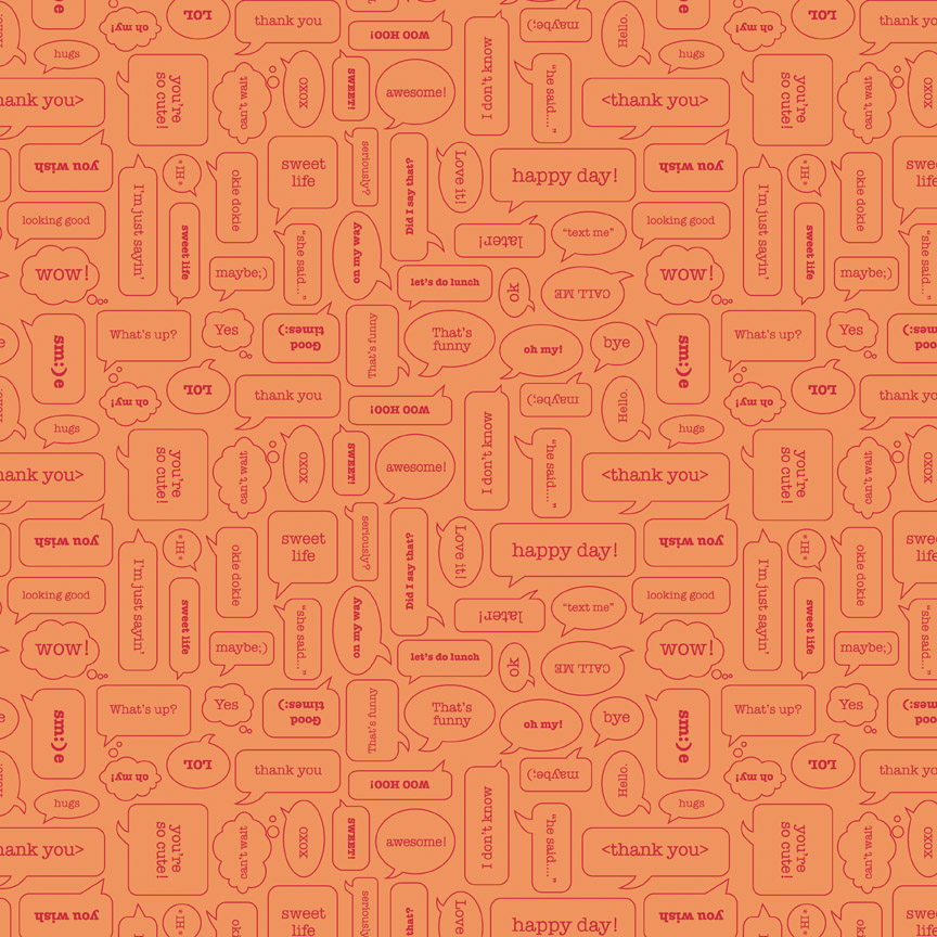 Modern Texting Orange