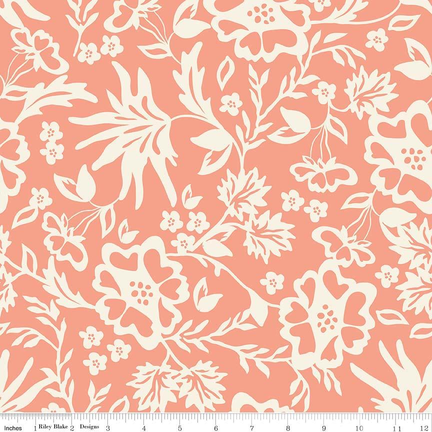 Apricot Floral Peach C4901