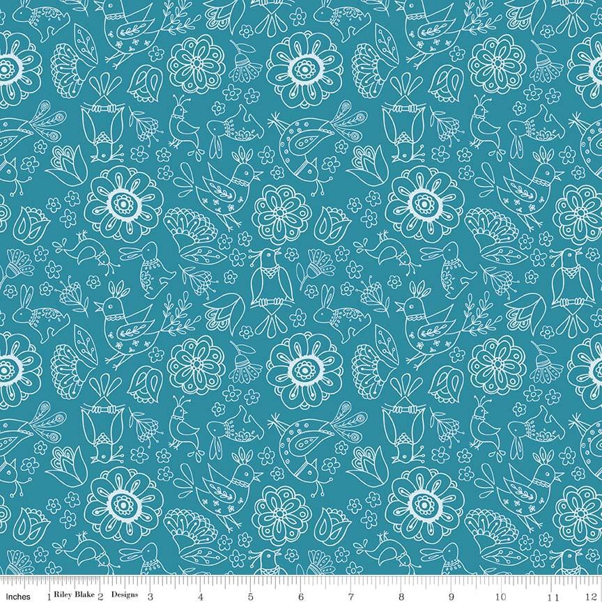 Dutch Treat - Floral Blue - C5281