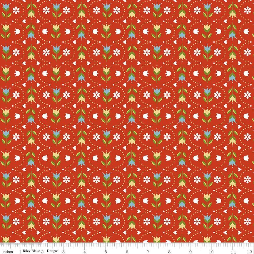 Dutch Treat - Stripe Red - C5284