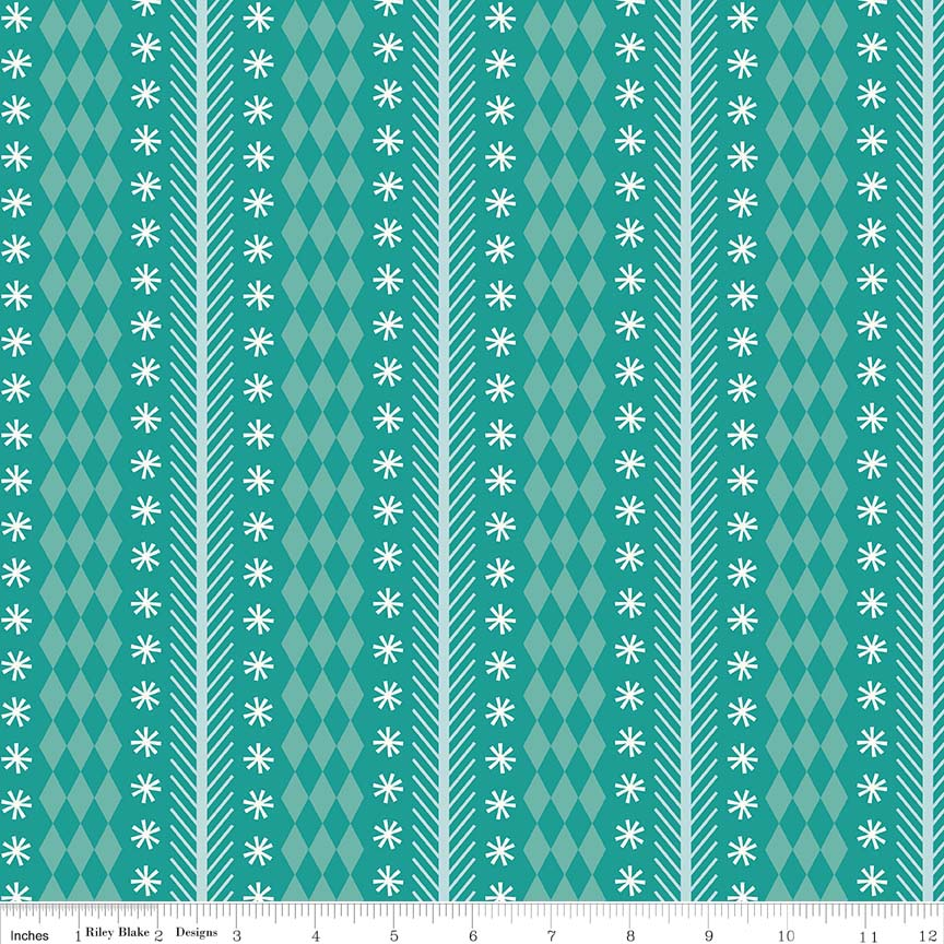 Nutcracker-Stripe Aqua-5333