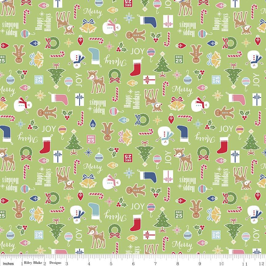 Cozy Christmas Main C5360-GREEN