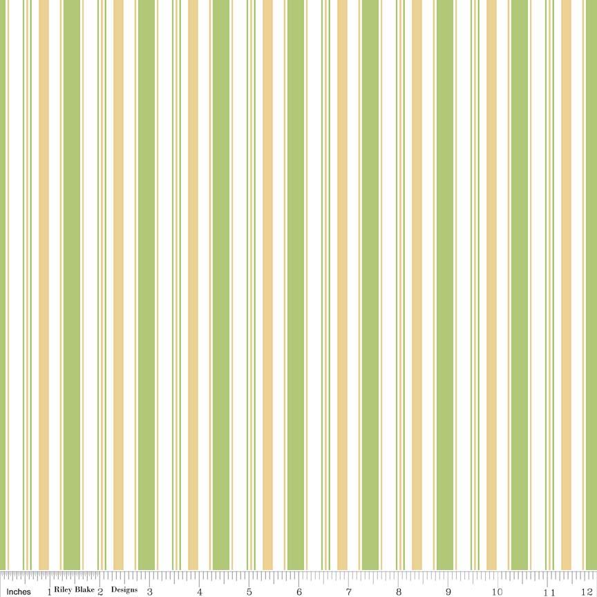 Cozy Christmas Stripe 5368 Green