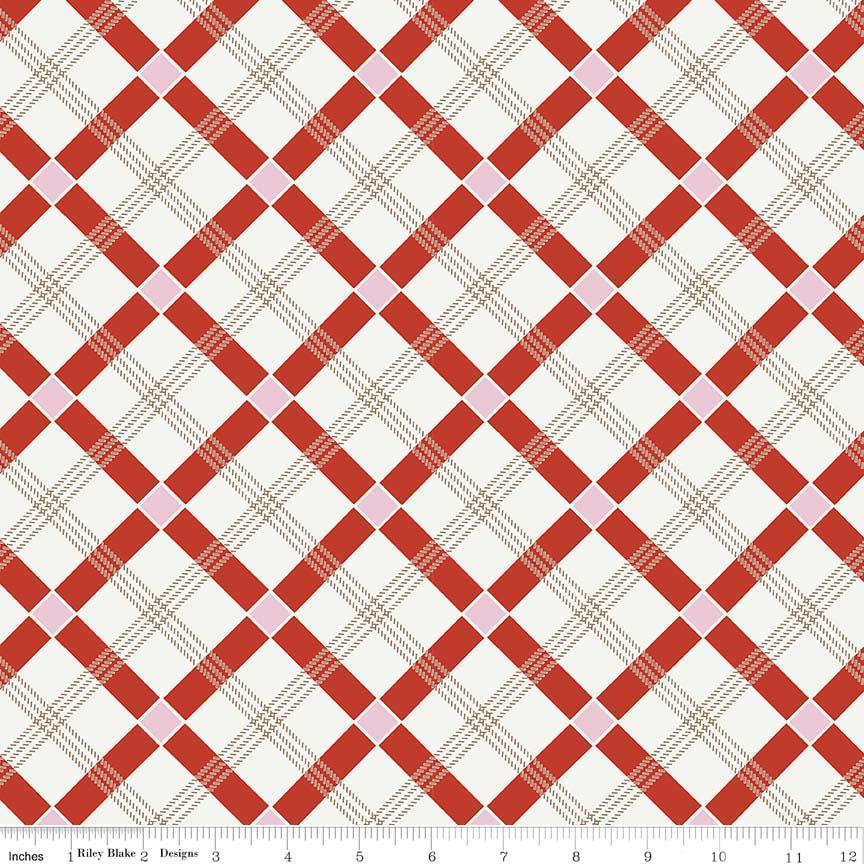 Apple Farm  Plaid Red C5453-RED