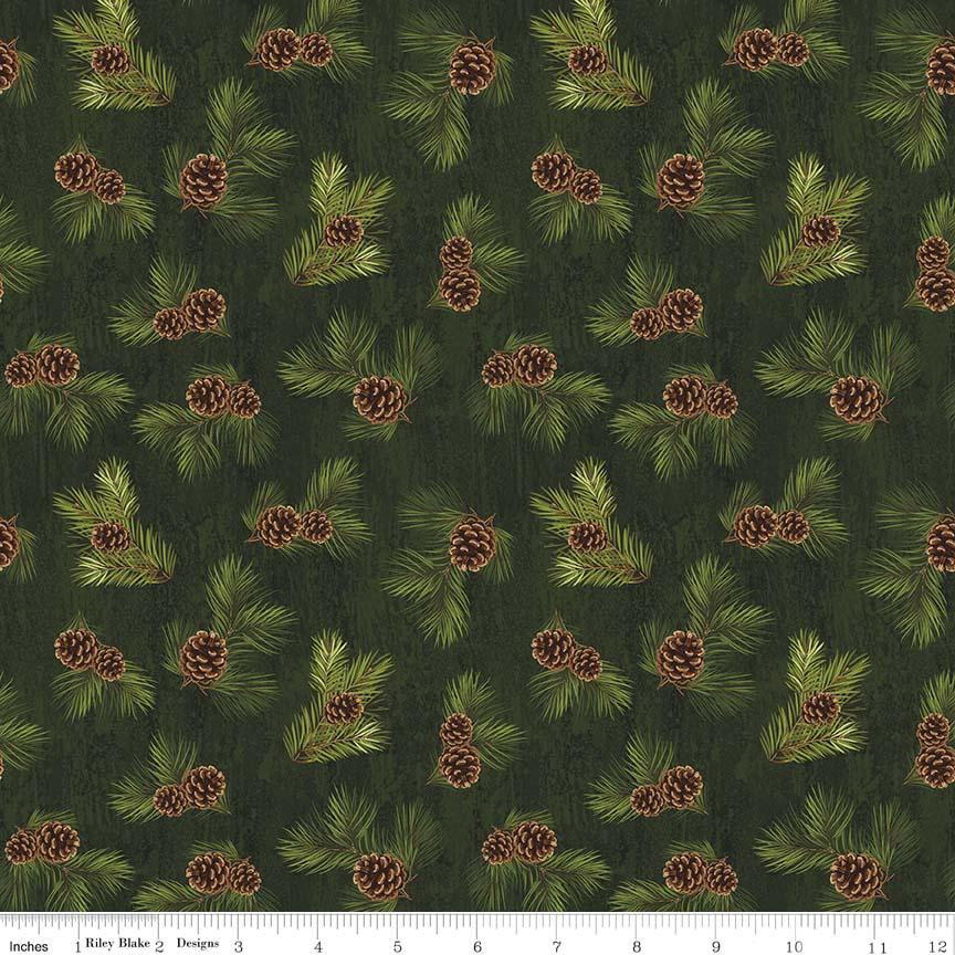Majestic Pinecones - Green