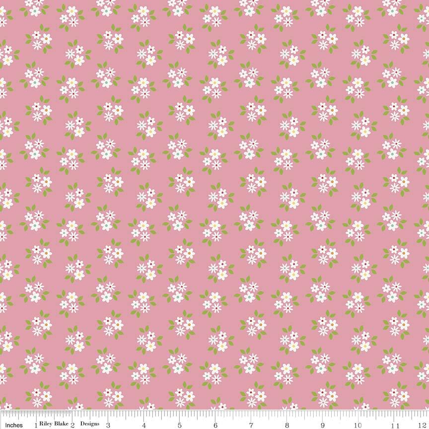 Garden Girl Posies Pink