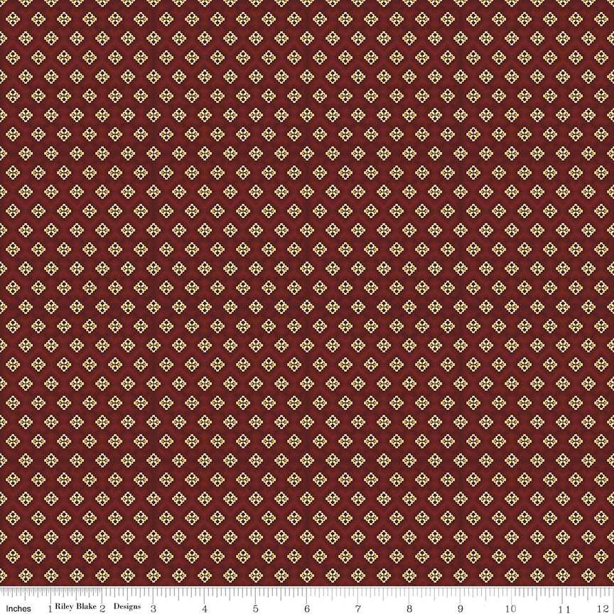 FLANNEL RED/GOLD DIAMONDS 80311