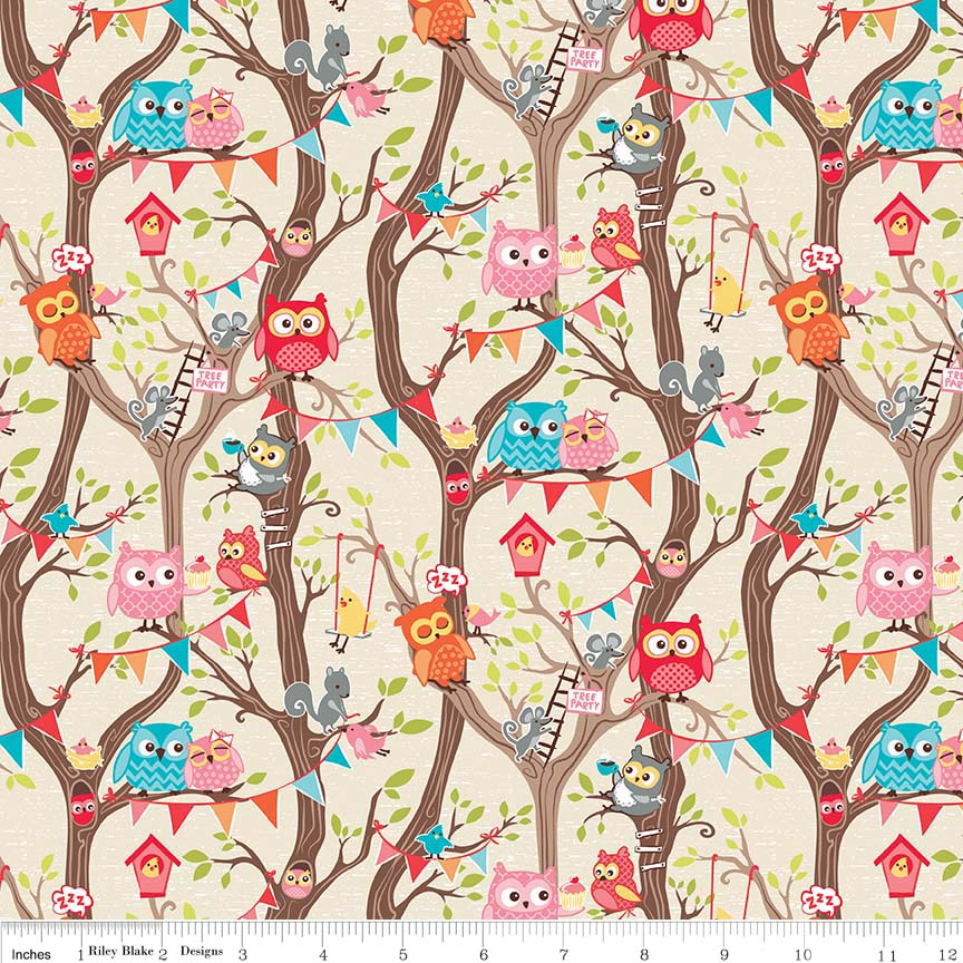 Tree Party Main Cream In Flannel