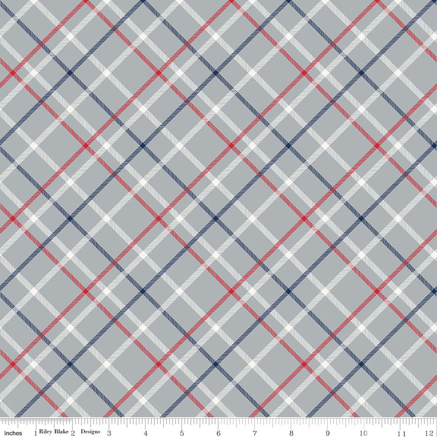 Play Ball 2 Plaid Gray In Flannel