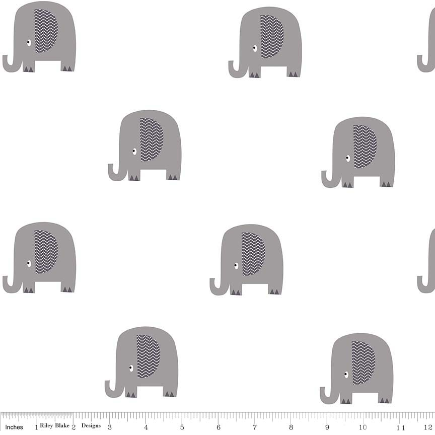 ELEPHANT GRAY IN DOUBLE GAUZE