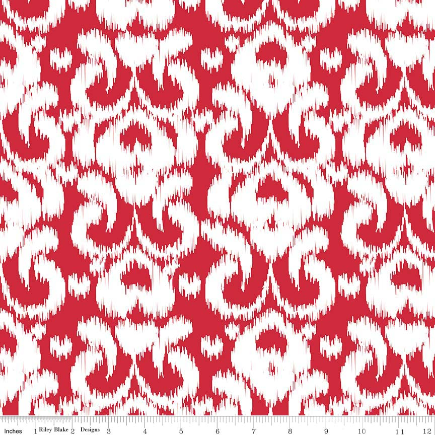 Riely Blake Ikat Knit  K365-RED