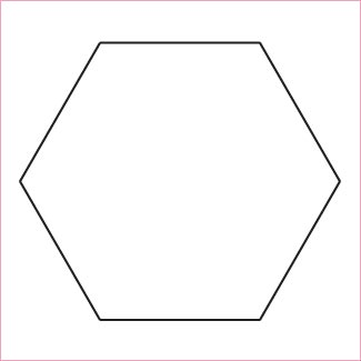 Hexagon 3-1/2 - 100 Pack