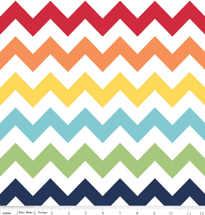 Wideback Medium Chevron Rainbow