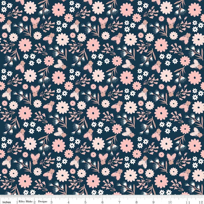 Blush Sparkle Floral Blue SC8011-BLUE