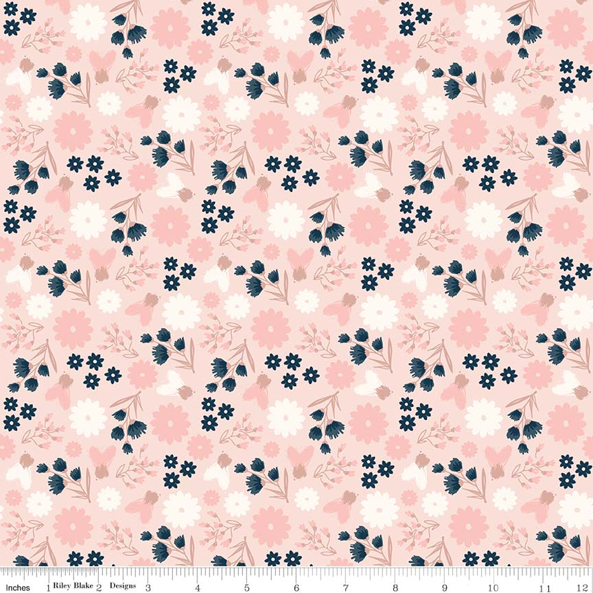Blush Sparkle Floral Pink SC8011-PINK