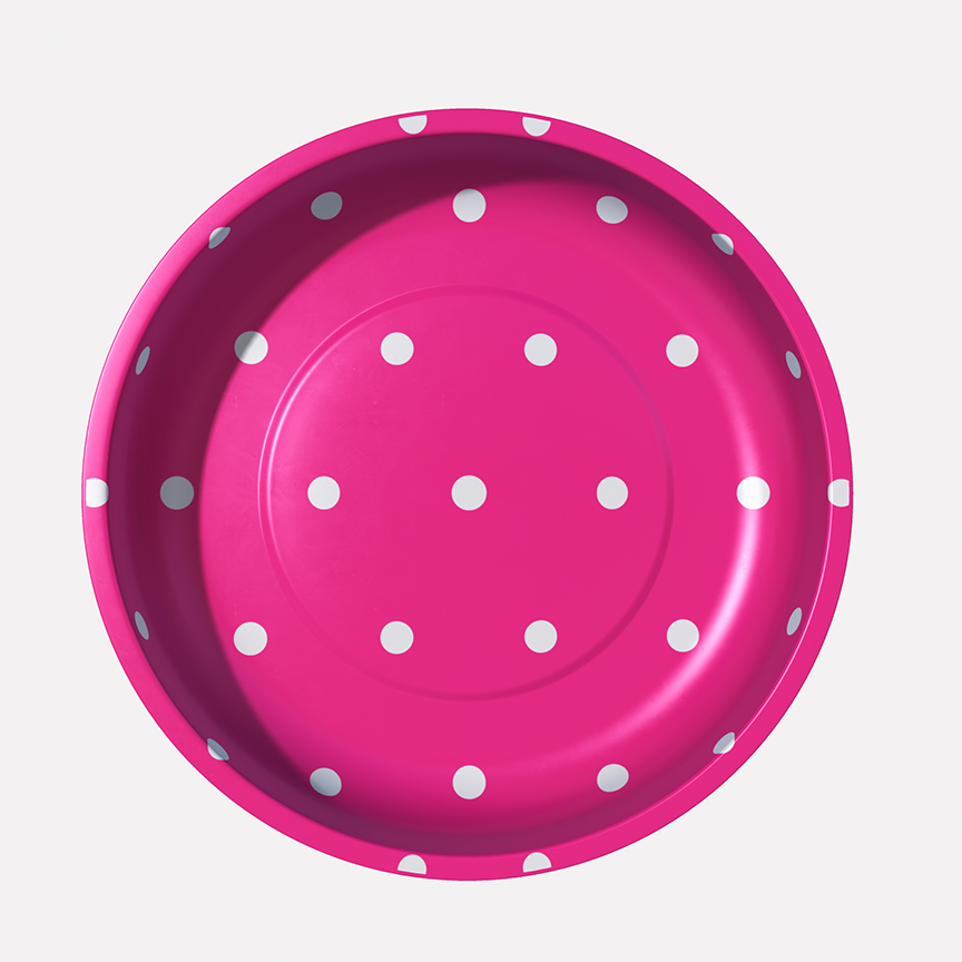 Magnetic Pin Bowl Hot Pink Dots