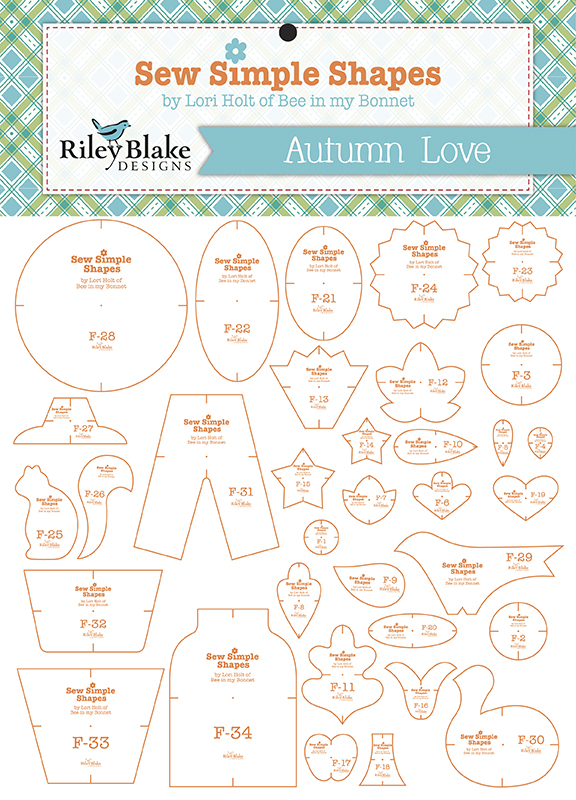 Autumn Love Sew Simple Shapes - Includes 34 Templates^