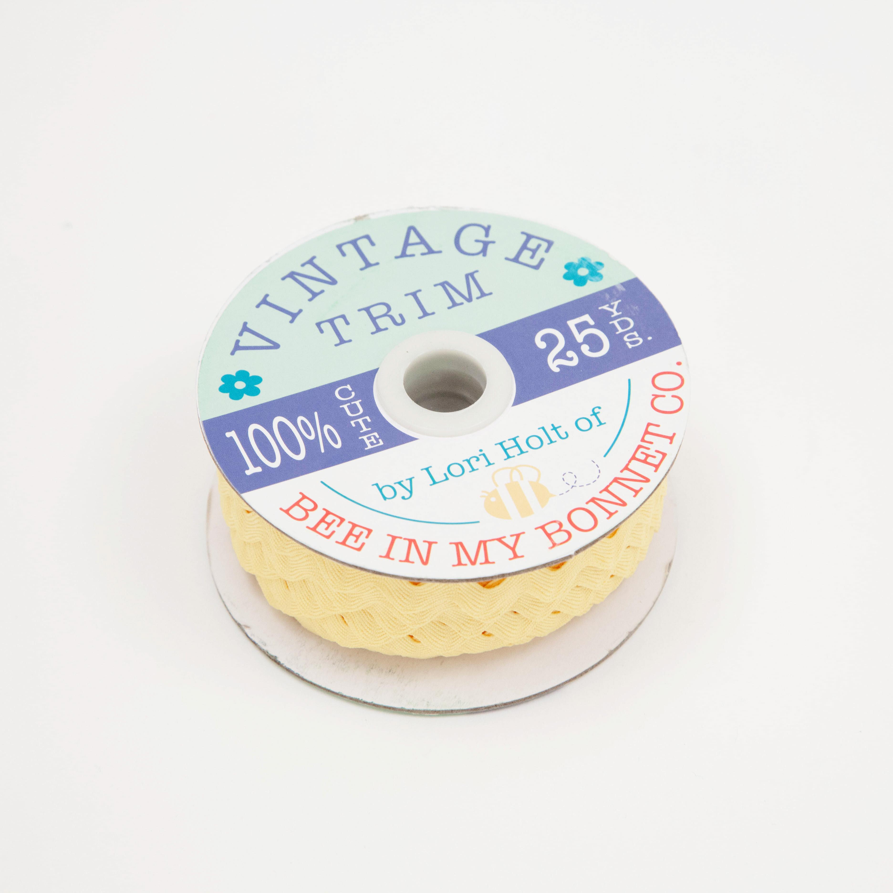 Vintage Trim - Bulk Yellow Large - 25 Yards