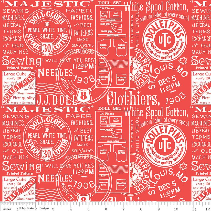 108 Paperdoll Text/Red: Paperdoll (Janet Wecker-Frisch)