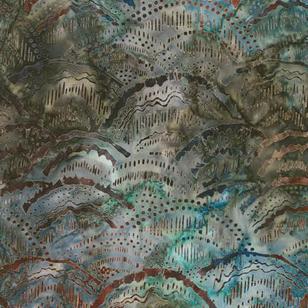 ELEMENTALS COLLECTION LANDSCAPES EARTH W/ MARBLED BLUES & GREENS ROBERT KAUFMAN