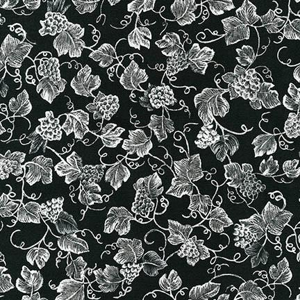Donna Knold Vineyard Collection CHARCOAL 100% COTTON