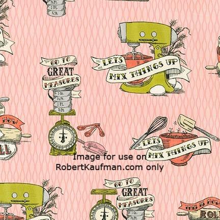 Robert Kaufman - In The Kitchen - Pink