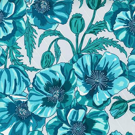 Valori Wells In The Bloom TURQUOISE 100% COTTON