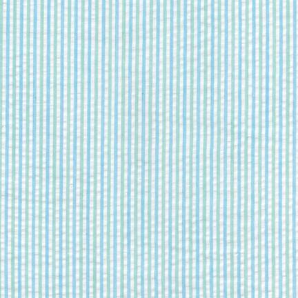 RK Seersucker Stripe CXS-13958-32 MINT Cotton Polyester