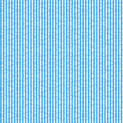 Seersucker Stripe/Check TURQUOISE 55% COMBED COTTON, 45% POLYESTER