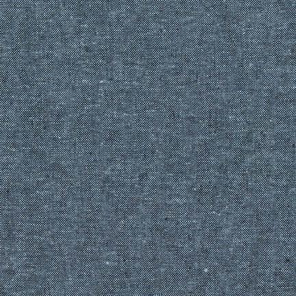 Robert Kaufman Essex Yarn Dyed Cotton/Linen Blend in Nautical