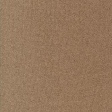 Flannel Solid BISON 100% COTTON