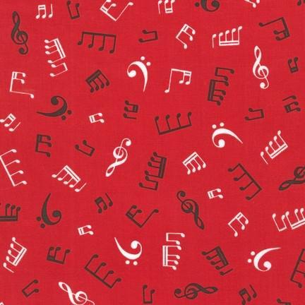 Robert Kaufman In Tune Red