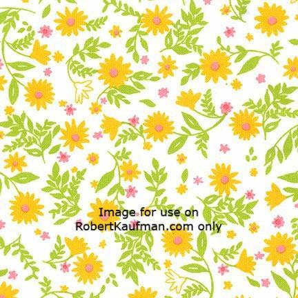 Robert Kaufman - Cozy Cotton YELLOW 100% COTTON