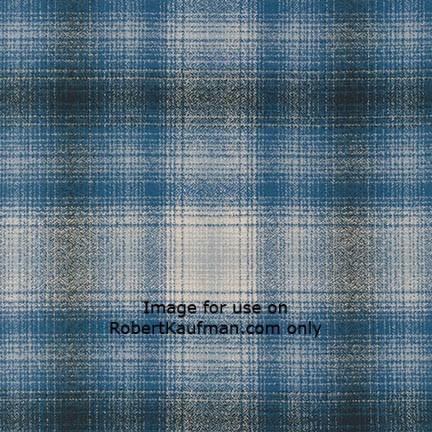 Mammoth Flannel BLUE 100% COTTON