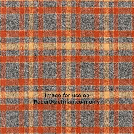 Mammoth Flannel RUST 100% COTTON