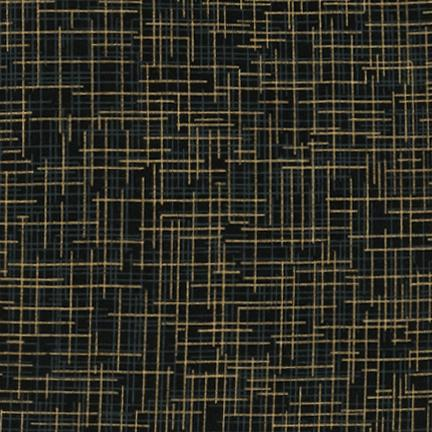 Quilter's Linen Metallic BLACK 100% cotton